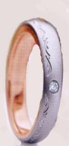 ★お買い得特別価格!!★RomanticBlueロマンティックブルー4RK017(25)マリッジリング・結婚指輪・ペアリング用(1本)