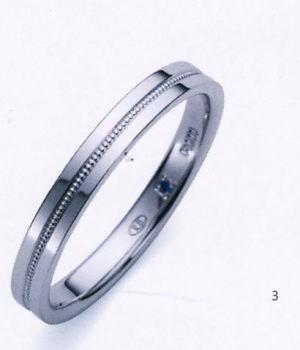 ★お買い得特別価格!!★Romantic Blueロマンティックブルー4B1006(3)マリッジリング・結婚指輪・ペアリング用(1本)
