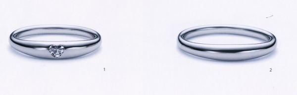 ★お買い得特別価格!!★RomanticBlueロマンティックブルー4A1005ダイヤ(1)&4B1005(2)-2本セットマリッジリング・結婚指輪・ペアリング
