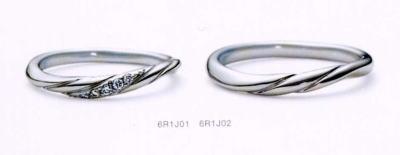 ★NINA RICCI【ニナリッチ】(9)6R1J01-3ダイヤ&(10)6R1J02-3 2本セットマリッジリング・結婚指輪・ペアリング