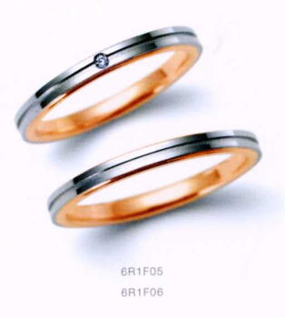 ★NINA RICCI【ニナリッチ】(37)6R1F05-2 ダイヤ&(38)6R1F06-2 2本セットマリッジリング・結婚指輪・ペアリング