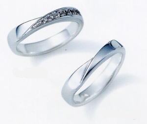 ★NINA RICCI【ニナリッチ】(41)6RB910-3ダイヤ&(42)6RA915-3 2本セットマリッジリング・結婚指輪・ペアリング