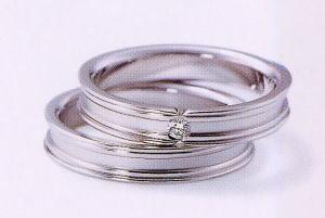 ★NINA RICCI【ニナリッチ】(47)6RB902ダイヤ&(48)6RA906 2本セットマリッジリング・結婚指輪・ペアリング