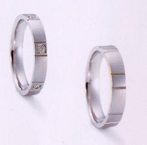 ★NINA RICCI【ニナリッチ】(49)6RB908-3ダイヤ&(50)6RA913-3 2本セットマリッジリング・結婚指輪・ペアリング