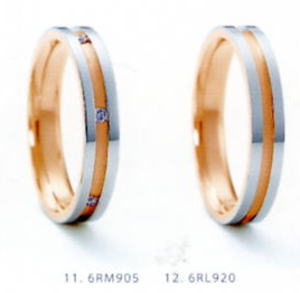 ★NINA RICCI【ニナリッチ】(24)6RM905-2&(25)6RL920-2(2本セット)マリッジリング・結婚指輪・ペアリング
