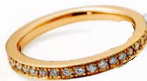 ★NINA RICCI【ニナリッチ】(56)6RG0001-2ハーフエタニティリング・マリッジリング・結婚指輪・ペアリング用(1本)