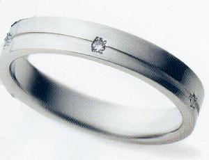★お買得情報があります???★サムシングブルー Something Blue SP-804(ダイヤ入り)マリッジリング、結婚指輪、ペアリング(1本)