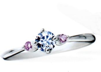 ★お買得情報があります??★Something BlueサムシングブルーSBE007ピンクダイヤ入りPt950エンゲージリング、婚約指輪