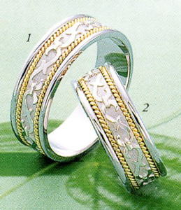 ★Tresoro【トレソロ】(1)99G52-(2)99G52 (wide 6.5mm)-2本セットマリッジリング・結婚指輪・ペアリング