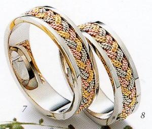 ★Tresoro【トレソロ】(7)63D74 wide 5.0mm&(8)63D74 wide 5.0mm(2本セット)マリッジリング・結婚指輪・ペアリング