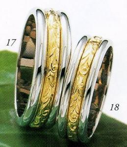 ★Tresoro【トレソロ】(17)11F71&(18)11D71(2本セット)マリッジリング・結婚指輪・ペアリング