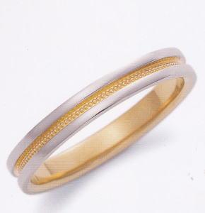 ★お買い得特別価格★EBP-1M Enbrasser Purest(アンブラッセ ピュアレスト 純プラチナ Pt-999)& 純金 (K24-999)マリッジリング、結婚指輪、ペアリング用(1本)