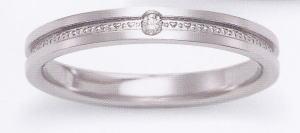★お買い得特別価格!!★EBP-2L(ダイヤ付)Enbrasser Purest(アンブラッセ ピュアレスト 純プラチナ Pt-999)マリッジリング、結婚指輪、ペアリング用(1本)