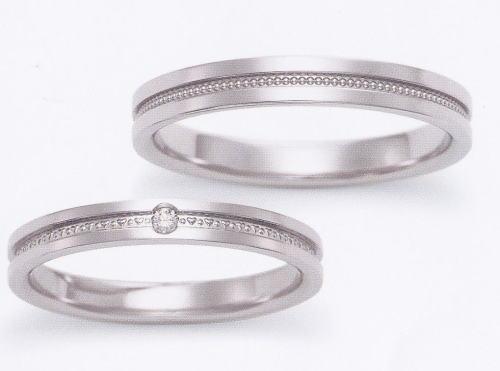 ★お買い得特別価格!!★EBP-2L & EBP-2M Enbrasser Purest(アンブラッセ ピュアレスト 純プラチナ Pt-999)マリッジリング、結婚指輪、ペアリング用(2本)