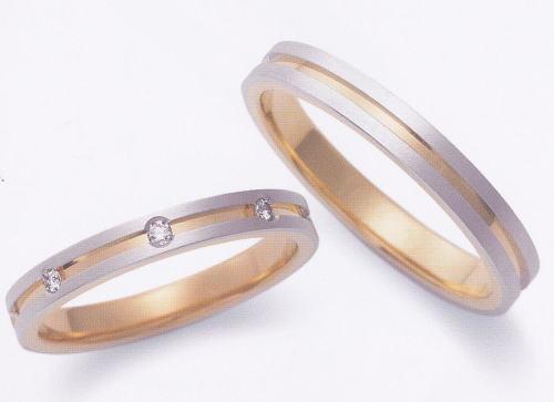 ★お買い得特別価格!!★EBP-6L & EBP-6M Enbrasser Purest(アンブラッセ ピュアレスト 純プラチナ Pt-999)& 純金 (K24-999)マリッジリング、結婚指輪、ペアリング用(2本)