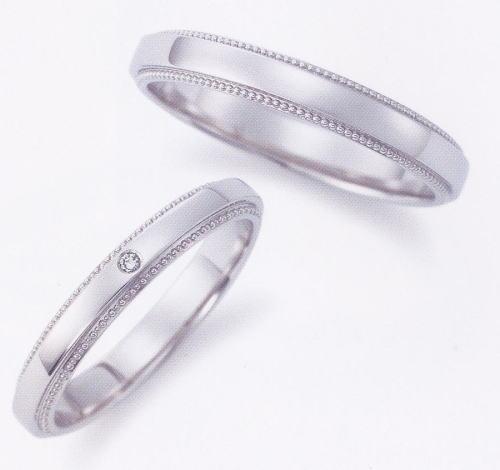 ★お買い得特別価格!!★EBP-13M & EBP-13L(ダイヤ付)Enbrasser Purest(アンブラッセ ピュアレスト 純プラチナ Pt-999)マリッジリング、結婚指輪、ペアリング用(2本)