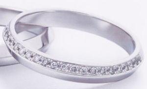 ★お買い得特別価格!!★EBP-10L(ダイヤ付)Enbrasser Purest(アンブラッセ ピュアレスト 純プラチナ Pt-999)マリッジリング、結婚指輪、ペアリング用(1本)