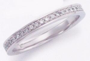 ★お買い得特別価格!!★EBP-17L(ダイヤ付)Enbrasser Purest(アンブラッセ ピュアレスト 純プラチナ Pt-999)マリッジリング、結婚指輪、ペアリング用(1本)
