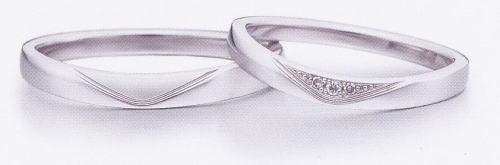 ★お買い得特別価格!!★EBP-16M & EBP-16L(ダイヤ付)Enbrasser Purest(アンブラッセ ピュアレスト 純プラチナ Pt-999)マリッジリング、結婚指輪、ペアリング用(2本)