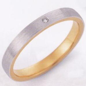 ★お買い得特別価格!!★EBP-5L(ダイヤ付)Enbrasser Purest(アンブラッセ ピュアレスト 純プラチナ Pt-999)& 純金 (K24-999)マリッジリング、結婚指輪、ペアリング用(1本)