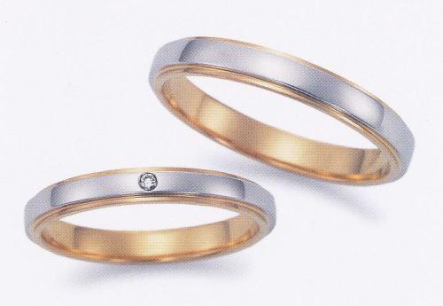 ★お買い得特別価格!!★EBP-12L & EBP-12MEnbrasser Purest(アンブラッセ ピュアレスト 純プラチナ Pt-999)& 純金 (K24-999)マリッジリング、結婚指輪、ペアリング用(2本)