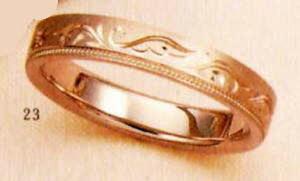 ★【卸直営店のお得な特別割引価格★Angerosa(アンジェローザ)(23)AR-814羽(Uni), K18PG マリッジリング、結婚指輪、ペアリング用(1本)