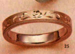 ★【卸直営店のお得な特別割引価格★Angerosa(アンジェローザ)(25)AR-816 薔薇(Uni), K18PG マリッジリング、結婚指輪、ペアリング用(1本)