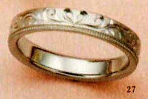 ★【卸直営店のお得な特別割引価格★Angerosa(アンジェローザ)(27)AR-818ハート(Uni)K18WG マリッジリング、結婚指輪、ペアリング用(1本)
