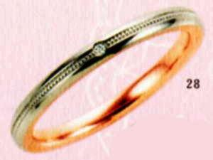 ★【卸直営店のお得な特別割引価格★Angerosa(アンジェローザ)(28)AR-508(L), PT900/K18PG マリッジリング、結婚指輪、ペアリング用(1本)