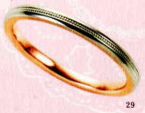 ★【卸直営店のお得な特別割引価格★Angerosa(アンジェローザ)(29)AR-509(M), PT900/K18PG マリッジリング、結婚指輪、ペアリング用(1本)