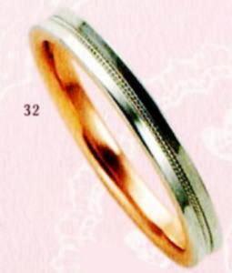 ★【卸直営店のお得な特別割引価格★Angerosa(アンジェローザ)(32)AR-512(M), PT900/K18PG マリッジリング、結婚指輪、ペアリング用(1本)