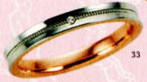 ★【卸直営店のお得な特別割引価格★Angerosa(アンジェローザ)(33)AR-513(L), PT900/K18PG マリッジリング、結婚指輪、ペアリング用(1本)