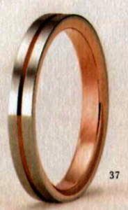 ★【卸直営店のお得な特別割引価格★Angerosa(アンジェローザ)(37)AR-601(M), K18WG/PG マリッジリング、結婚指輪、ペアリング用(1本)