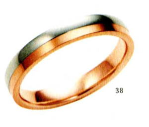 ★【卸直営店のお得な特別割引価格★Angerosa(アンジェローザ)(38)AR-501(M), Pt900/K18PG マリッジリング、結婚指輪、ペアリング用(1本)
