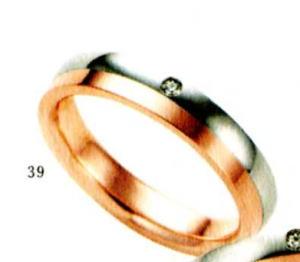 ★【卸直営店のお得な特別割引価格★Angerosa(アンジェローザ)(39)AR-502(L) 、Pt900/K18PG マリッジリング、結婚指輪、ペアリング用(1本)