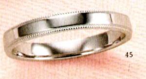★【卸直営店のお得な特別割引価格★Angerosa(アンジェローザ)(45)AR-810(M), K18WG マリッジリング、結婚指輪、ペアリング用(1本)