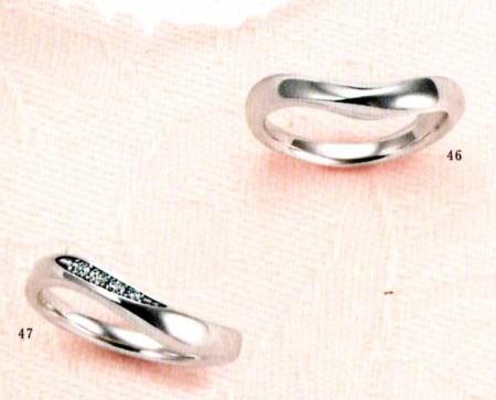 ★【卸直営店のお得な特別割引価格★Angerosa(アンジェローザ)(46)AR-101W(L)&(47)AR-102(L)-2本セット , Pt900 マリッジリング、結婚指輪、ペアリング