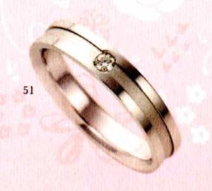 ★【卸直営店のお得な特別割引価格★Angerosa(アンジェローザ)(51)AR-809(L), K18WG マリッジリング、結婚指輪、ペアリング用(1本)