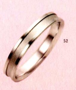★【卸直営店のお得な特別割引価格★Angerosa(アンジェローザ)(52)AR-808(M), K18WG マリッジリング、結婚指輪、ペアリング用(1本)