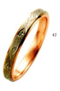 ★【卸直営店のお得な特別割引価格★Angerosa(アンジェローザ)(42)AR-603(M), K18WG/PG マリッジリング、結婚指輪、ペアリング用(1本)
