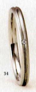 ★【卸直営店のお得な特別割引価格★Angerosa(アンジェローザ)(34)AR-107(L), PT900プラチナ マリッジリング、結婚指輪、ペアリング用(1本)