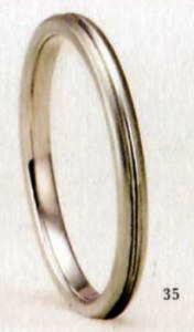 ★【卸直営店のお得な特別割引価格★Angerosa(アンジェローザ)(35)AR-108(M), PT900プラチナマリッジリング、結婚指輪、ペアリング用(1本)
