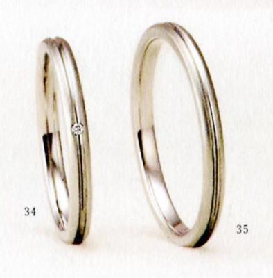 ★【卸直営店のお得な特別割引価格★Angerosa(アンジェローザ)(34)AR-107(L)&(35)AR-108(M)-2本セット, PT900プラチナマリッジリング、結婚指輪、ペアリング
