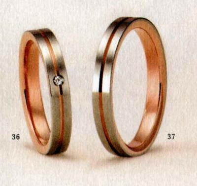 ★【卸直営店のお得な特別割引価格★Angerosa(アンジェローザ)(36)AR-602(L))&(37)AR-601(M)-2本セット,K18WG/PG マリッジリング、結婚指輪、ペアリング