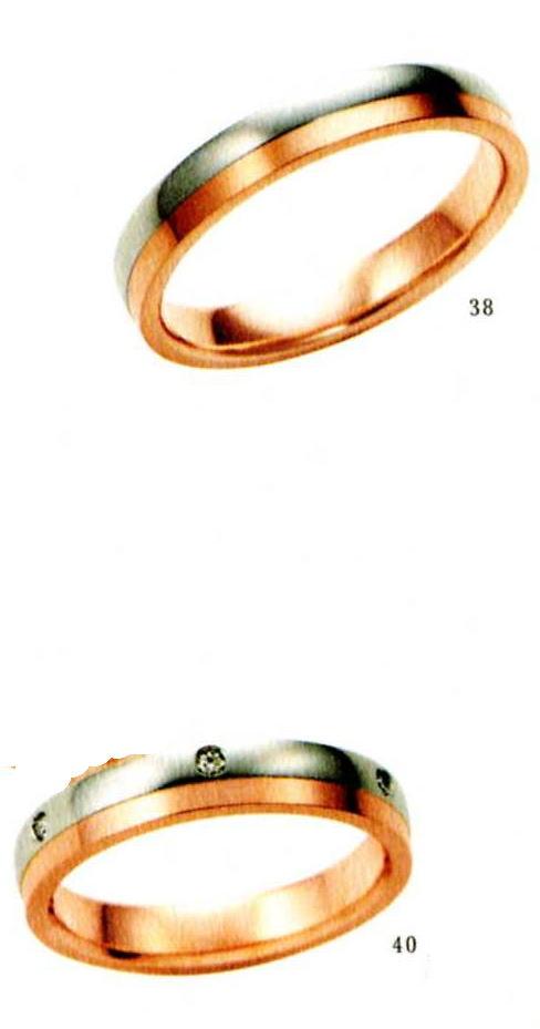 ★【卸直営店のお得な特別割引価格★Angerosa(アンジェローザ)(38)AR-501(M))&(40)AR-503(L)-2本セット, Pt900/K18PG マリッジリング、結婚指輪、ペアリング