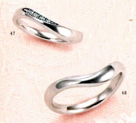 ★【卸直営店のお得な特別割引価格★Angerosa(アンジェローザ)(47)AR-102(L)&(48)AR-101M(M)-2本セット , Pt900 マリッジリング、結婚指輪、ペアリング