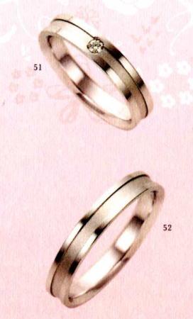 ★【卸直営店のお得な特別割引価格★Angerosa(アンジェローザ)(51)AR-809(L)&(52)AR-808(M)-2本セット, K18WG マリッジリング、結婚指輪、ペアリング