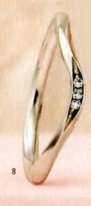 ★【卸直営店のお得な特別割引価格★Angerosa(アンジェローザ)(8)AR-008(L), Pt900 マリッジリング、結婚指輪、ペアリング用(1本)