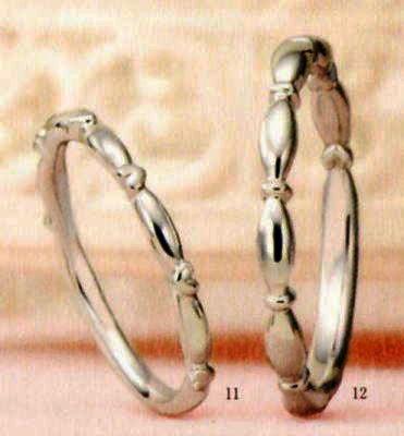 ★【卸直営店のお得な特別割引価格★Angerosa(アンジェローザ)(11)AR-011(L)&(12)AR-012(M)-2本セット, Pt900 マリッジリング、結婚指輪、ペアリング