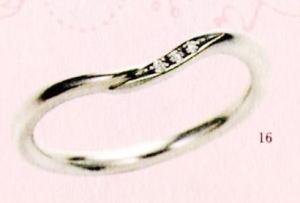 ★【卸直営店のお得な特別割引価格★Angerosa(アンジェローザ)(16)AR-016(L), Pt900 マリッジリング、結婚指輪、ペアリング